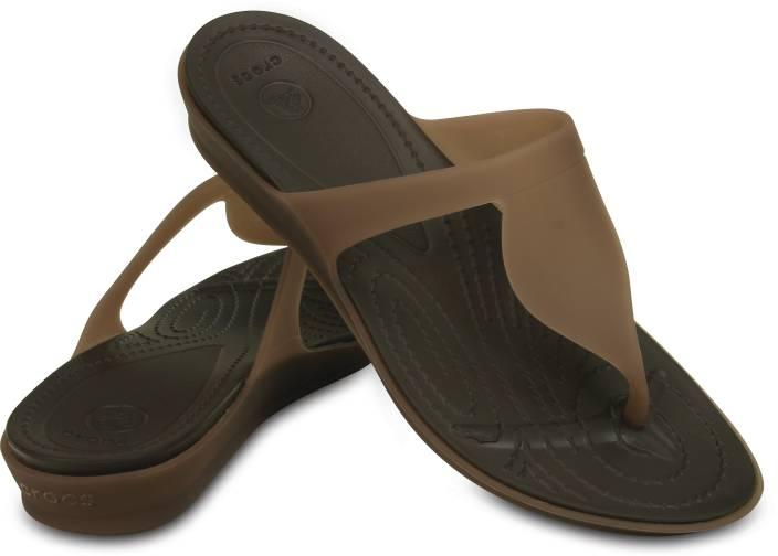 2aaf6c0e Crocs Crocs Rio Flip W Flip Flops - Buy Bronze/Espresso Color Crocs Crocs  Rio Flip W Flip Flops Online at Best Price - Shop Online for Footwears in  India ...