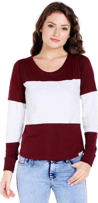 The Dry State Solid Women Round Neck Multicolor T-Shirt