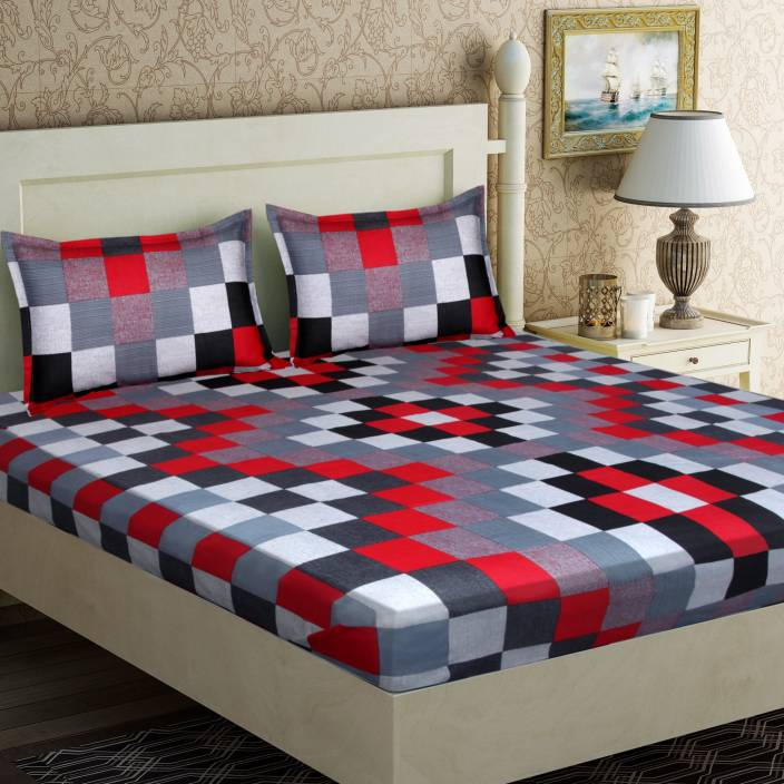 IWS 104 TC Cotton Double Checkered Bedsheet