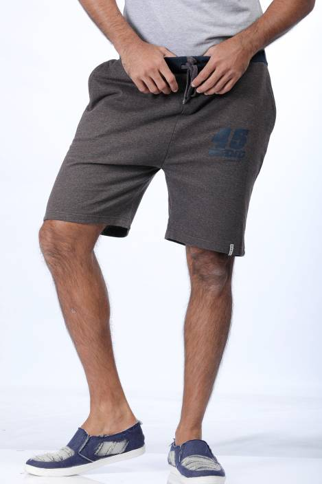 Rodid Solid Men's Brown Sports Shorts