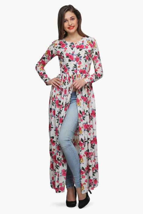 Cation Women s Maxi Multicolor Dress - Buy White Cation Women s Maxi  Multicolor Dress Online at Best Prices in India  0cf1c43d2