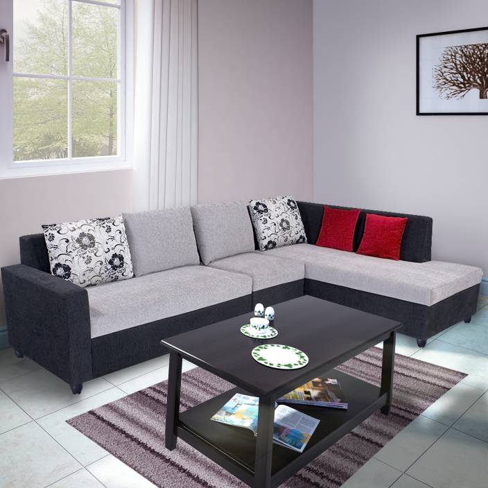 Bharat lifestyle nano fabric 6 seater standard price in for Hall furniture design sofa set