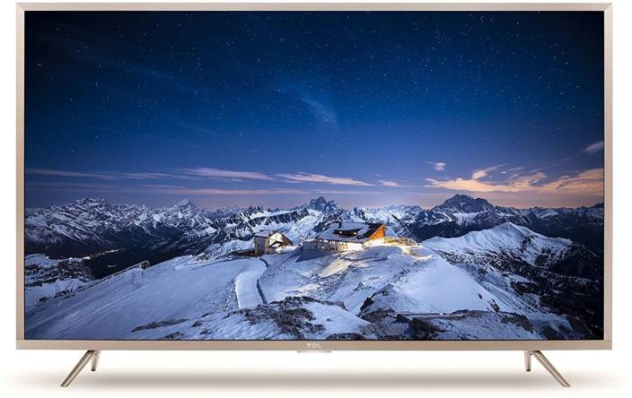 Image result for TCL 138.71 cm (55 Inches) 4K UHD LED Smart Certified Android TV L55P2MUS (Gold)