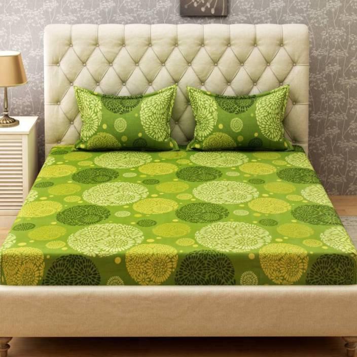 Bombay Dyeing 104 TC Cotton Double Geometric Bedsheet