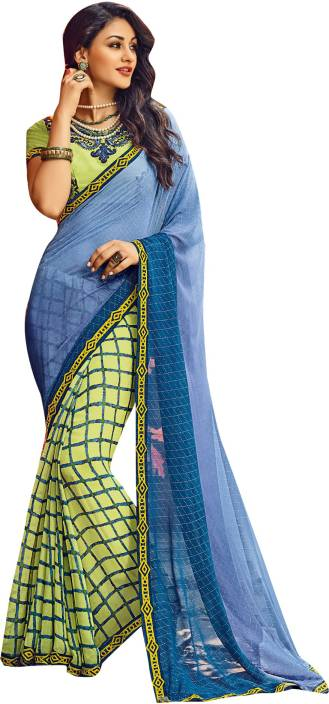d0b2b8ae35 Only Vimal Embellished Fashion Georgette, Satin Saree (Multicolor)