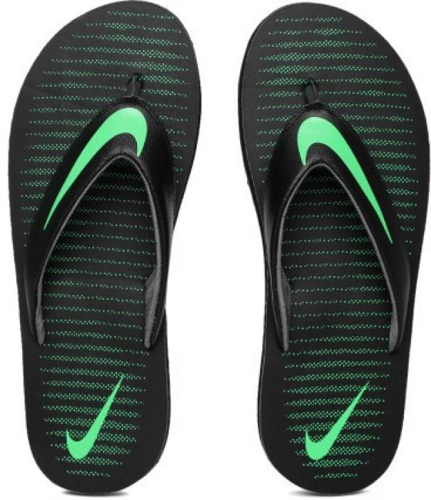 4fb573cede3b68 Nike CHROMA THONG 5 Flip Flops - Buy BLACK ELECTRO GREEN-DARK GREY Color Nike  CHROMA THONG 5 Flip Flops Online at Best Price - Shop Online for Footwears  in ...