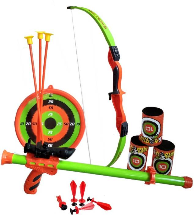 HALO NATION Kings Sport 2in1 - Archery Set + Blow Gun - With Laser Aim +