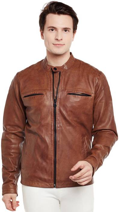 Justanned Full Sleeve Solid Men Jacket