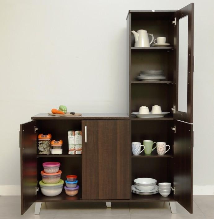 Eros Stylo Engineered Wood Crockery Cabinet Price in India Buy