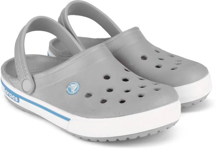 c533a241304712 Crocs Men 0D7 Clogs - Buy Light Grey Electric Blue Color Crocs Men 0D7 Clogs  Online at Best Price - Shop Online for Footwears in India