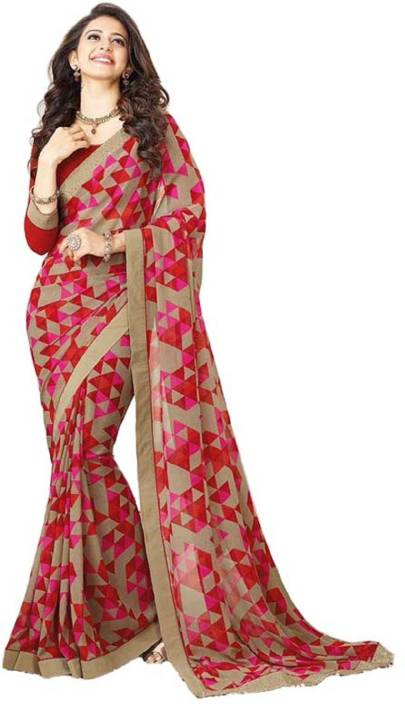 Hinayat Fashion Printed Fashion Chiffon Saree