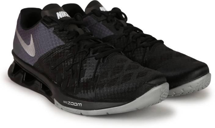 Nike REAX LIGHTSPEED II Training Shoes For Men - Buy BLACK METALLIC ... 4df6ed5e2