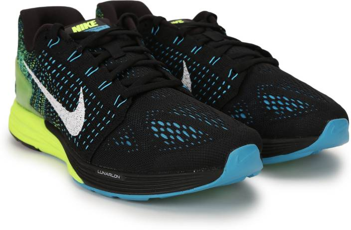 9903c4b45794 Nike LUNARGLIDE 7 Running Shoes For Men - Buy Black Blue Volt Color ...