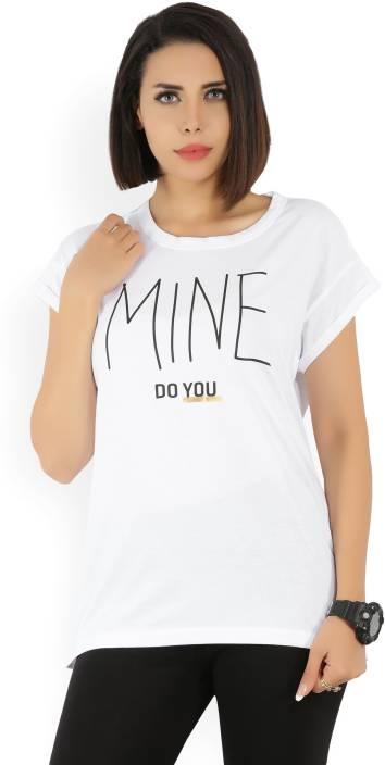 Puma Printed Women Round Neck White T-Shirt