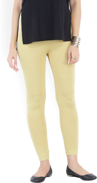 Aurelia Solid Women Gold Tights