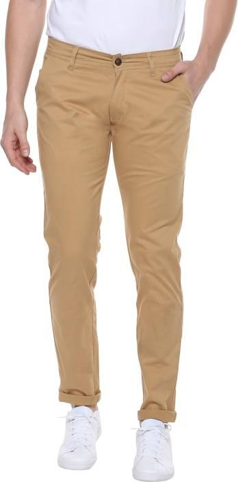 Urbano Fashion Slim Fit Men's Beige Trousers