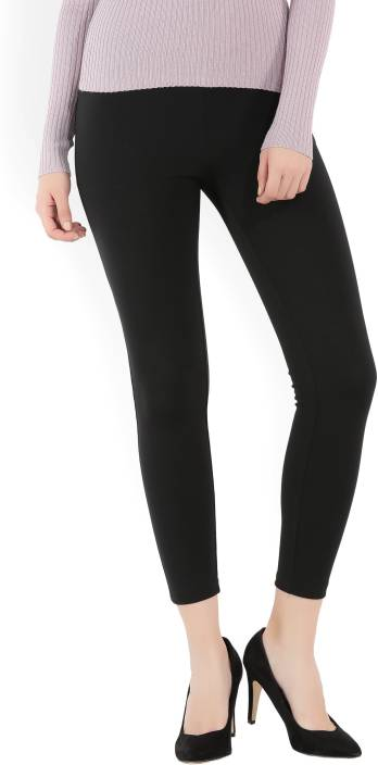 Forever 21 Melisa Slim Fit Women S Black Trousers Buy Black