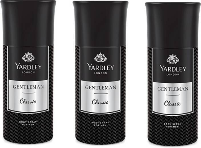 5c00601837e Yardley Gentlemen Deo Combo Pack of 3 Deodorant Spray - For Men (150 ml