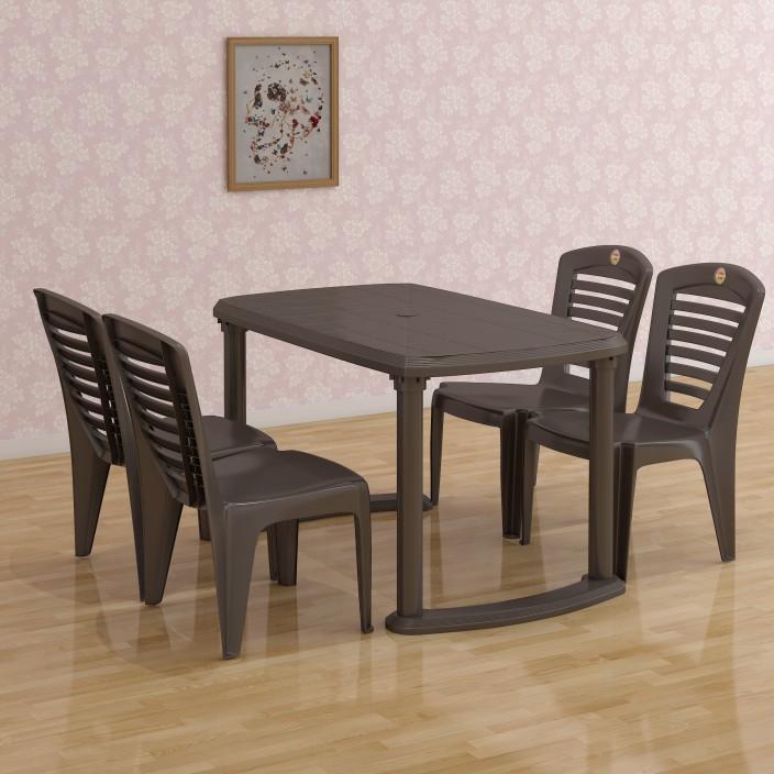 Good Cello Plastic 4 Seater Dining Set