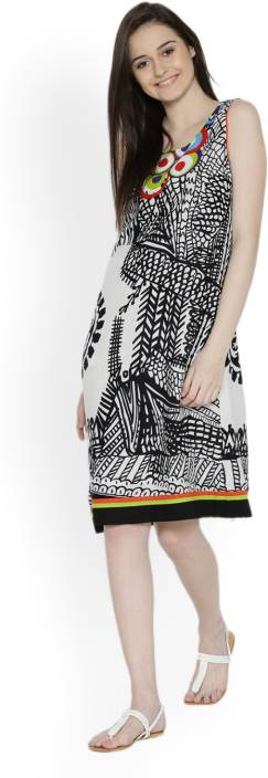 Biba Women's A-line Multicolor Dress