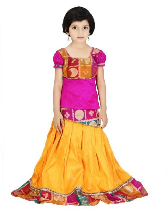 957d76071c1ed Beststitch Girls Lehenga Choli Western Wear Self Design Lehenga Choli  (Multicolor