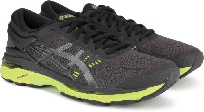 449076b39b1e Asics GEL-KAYANO 24 Running Shoes For Men - Buy BLACK/GREEN GECKO ...