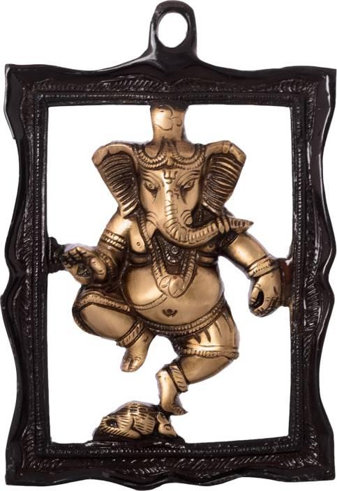 eCraftIndia Ganesha in Frame Wall Hanging Decorative Showpiece  -  22 cm
