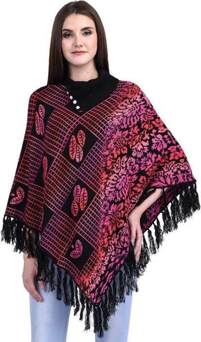 f3335b7b911 eWools Women Winter Wear Woolen Poncho - Buy eWools Women Winter Wear  Woolen Poncho Online at Best Prices in India