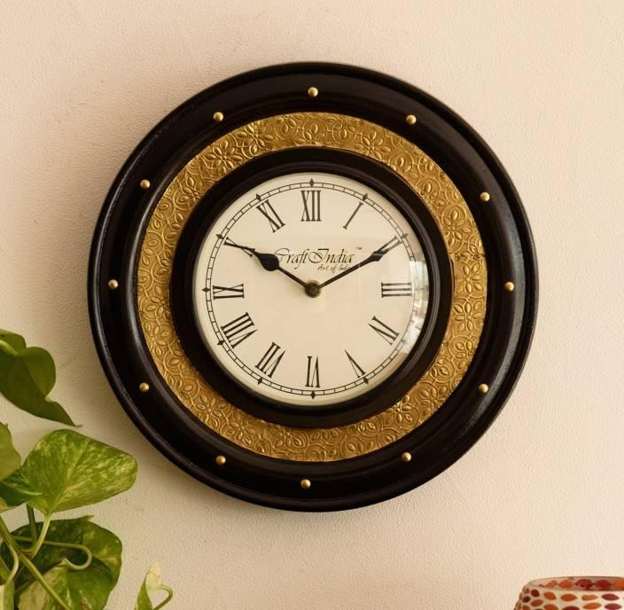 eCraftIndia Analog 30 cm Dia Wall Clock