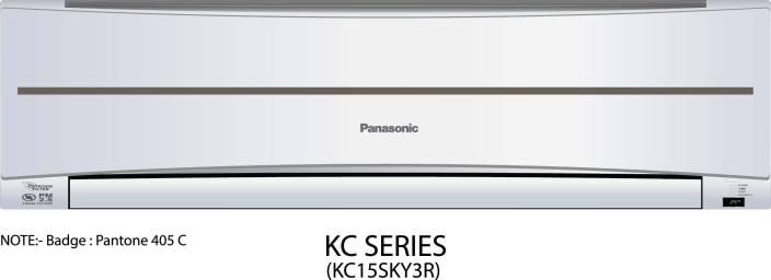 Panasonic 1.2 Ton 3 Star BEE Rating 2017 Split AC  - White
