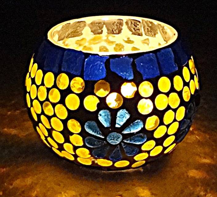 7c1771eaaa4ee3 Hare Krishna Decorative Lights For Diwali Candle Stand Votive Glass Tealight  Holder (Multicolor