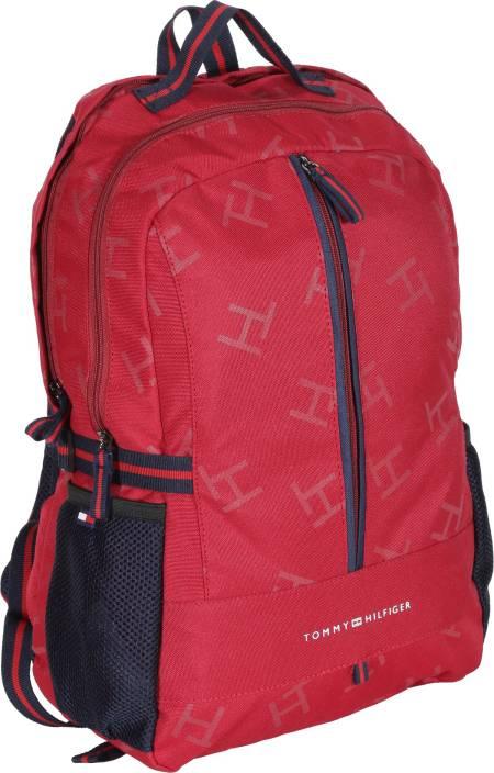 d2f08abe81 Tommy Hilfiger Biker Club Alaska 23.6 L Medium Laptop Backpack (Red, Blue)