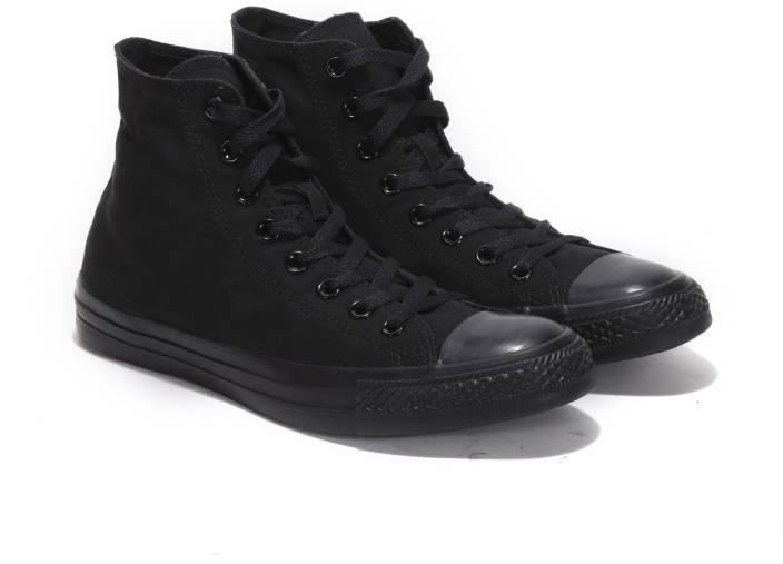cb2e0542e6c7 Converse Mid Ankle Sneakers For Men - Buy MONO BLACK Color Converse ...