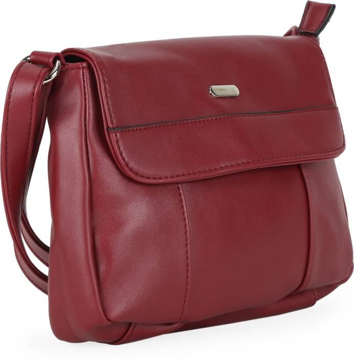 Lavie Women Maroon PU Sling Bag