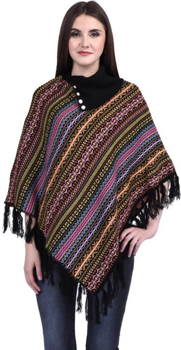 db5761947f eWools Women Winter Wear Woolen Poncho - Buy eWools Women Winter Wear  Woolen Poncho Online at Best Prices in India | Flipkart.com