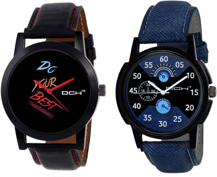 DCH IN-74.31 Pack of 2 Stylish Watches Watch  - For Men