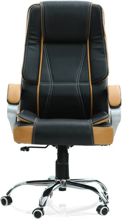 Green Soul Vienna High Back Office Chair Black Tan Leatherette