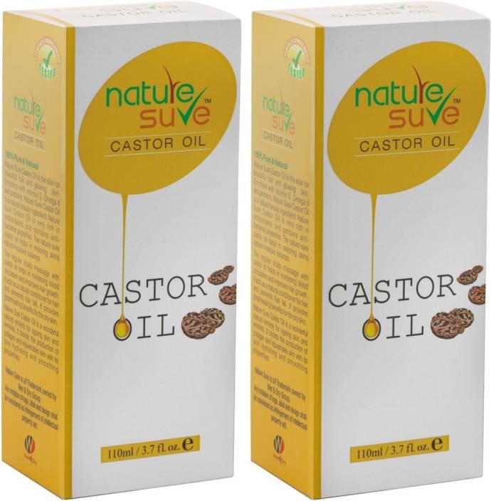nature sure Pure Castor Oil (220ml) - RICINUS COMMUNIS ( 100% Pure Quality)