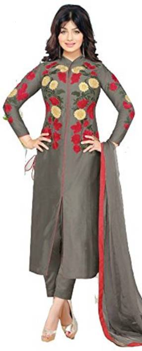 11c200cea15c AnK Pure Cotton Embroidered Salwar Suit Dupatta Material Price in ...