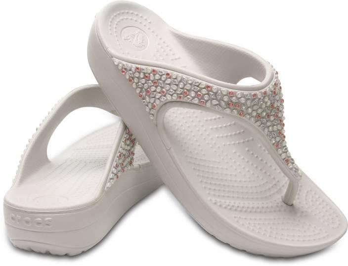 8c887f991dffb Crocs Women White Heels - Buy Crocs Women White Heels Online at Best Price  - Shop Online for Footwears in India | Flipkart.com