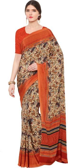 Ratnavati Printed, Geometric Print, Digital Prints Bollywood Crepe Saree