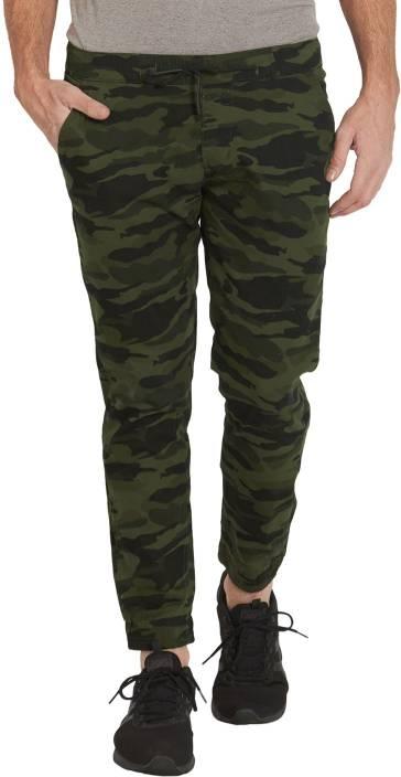 Deezeno Printed Men Green Track Pants