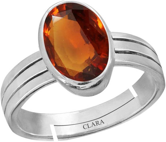 Clara Gomed Hessonite 4 8cts or 5 25ratti Adjustable Ring