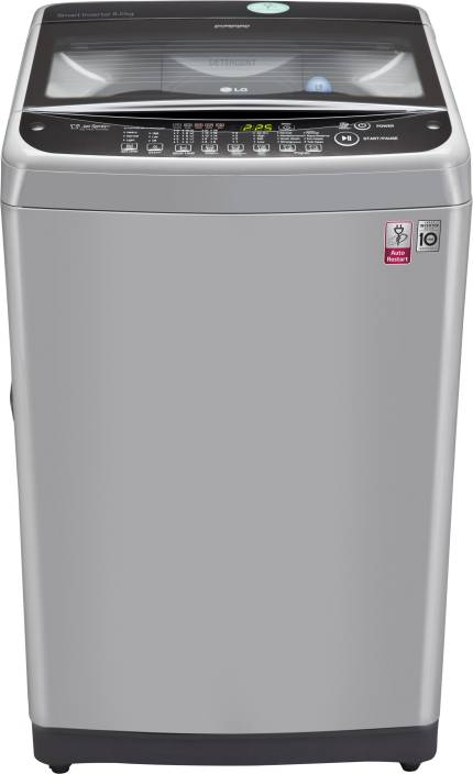 LG 8 kg Fully Automatic Top Load Washing Machine Silver