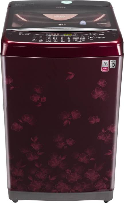 LG 7 kg Fully Automatic Top Load Washing Machine Maroon