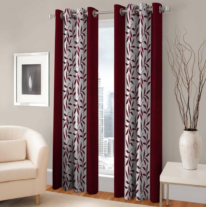 Fabaron Polyester Window Curtain 153 cm (4.9ft) Single Curtain
