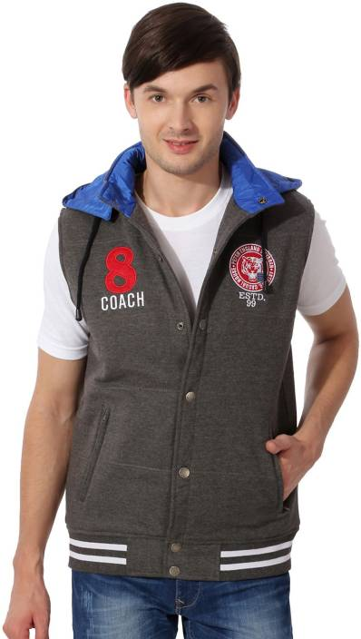Peter England Sleeveless Solid Men's NA Jacket