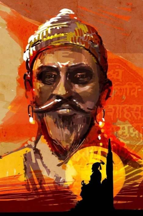 Shivaji Maharaj On Good Quality Hd Quality Wallpaper Poster Fine Art
