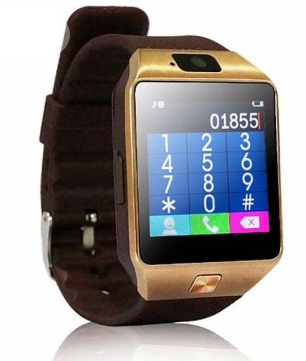 RASU Certified Bluetooth Smart Watch Phone [M9Sw002] With Camera & Sim Card Compatible with all your Smartphones Gold Smartwatch