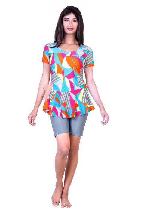 27479d4207f ROVARS Swim-dress Geometric Print Women's Swimsuit
